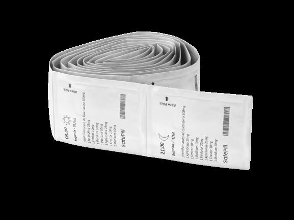As embalagens unitárias estão em ordem cronológica para que você não esqueça de tomar seus remédios.